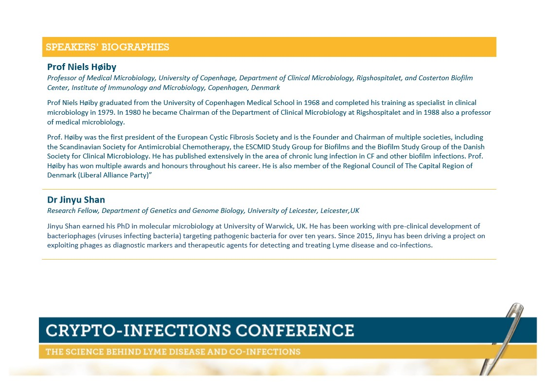 CRYPTO-INFECTIONS CONFERENCE   Visa Vis Symposiums